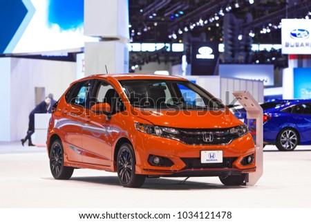 Chicago February 8 2018 Honda Fit Stock Photo Edit Now 1034121478