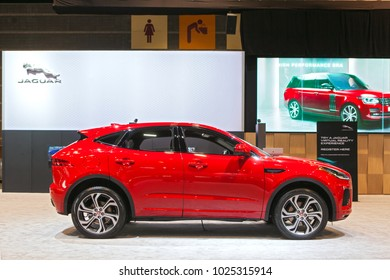 CHICAGO - February 8: The 2018 Jaguar E-Pace on display at the Chicago Auto Show media preview February 8, 2018 in Chicago, Illinois.