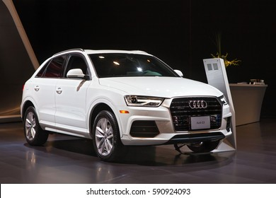 CHICAGO - February 9: The 2018 Audi Q3 on display at the Chicago Auto Show media preview February 9, 2017 in Chicago, Illinois.