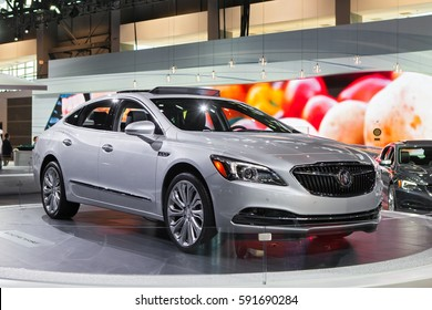 CHICAGO - February 9: The 2018 Buick LaCrosse on display at the Chicago Auto Show media preview February 9, 2016 in Chicago, Illinois.