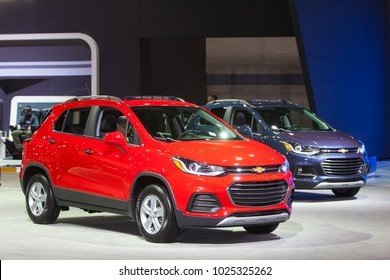 CHICAGO - February 9: The 2018 Chevrolet Trax on display at the Chicago Auto Show media preview February 9, 2018 in Chicago, Illinois.