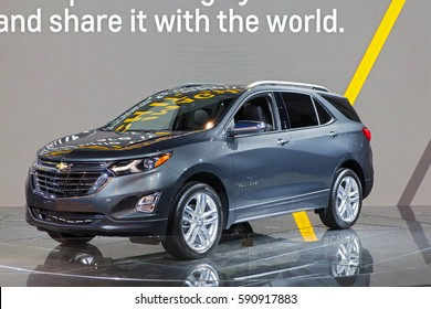 CHICAGO - February 9: The 2018 Chevy Equinox on display at the Chicago Auto Show media preview February 9, 2017 in Chicago, Illinois.