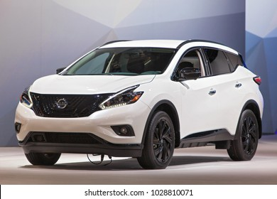 CHICAGO - February 9: The 2018 Nissan Murano on display at the Chicago Auto Show media preview February 9, 2018 in Chicago, Illinois.