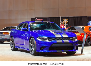 CHICAGO - February 9: The 2019 Dodge SRT Demon on display at the Chicago Auto Show media preview February 9, 2018 in Chicago, Illinois.