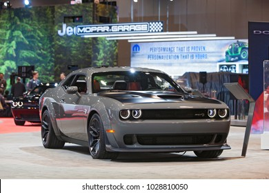 CHICAGO - February 9: The 2019 Dodge Charger Demon on display at the Chicago Auto Show media preview February 9, 2018 in Chicago, Illinois.