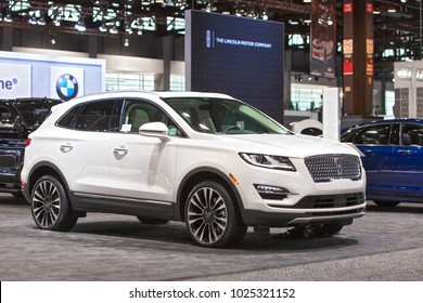CHICAGO - February 9: The 2019 Lincoln MKC on display at the Chicago Auto Show media preview February 9, 2018 in Chicago, Illinois.