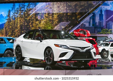 CHICAGO - February 9: The 2019 Toyota Avalon on display at the Chicago Auto Show media preview February 9, 2018 in Chicago, Illinois.