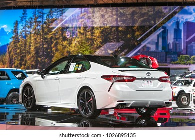 CHICAGO - February 9: The 2019 Toyota Camry on display at the Chicago Auto Show media preview February 9, 2018 in Chicago, Illinois.