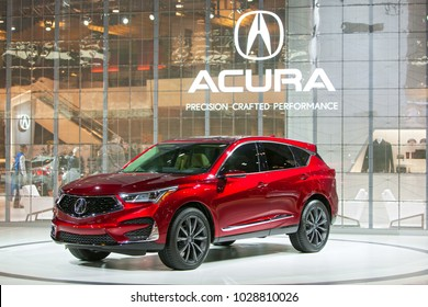 CHICAGO - February 9: The Acura RDX SUV on display at the Chicago Auto Show media preview February 9, 2018 in Chicago, Illinois.