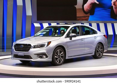 CHICAGO - February 9: The all new Subaru Legacy on display at the Chicago Auto Show media preview February 9, 2017 in Chicago, Illinois.