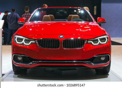 CHICAGO - February 9: A BMW Series 2 convertible on display at the Chicago Auto Show media preview February 9, 2018 in Chicago, Illinois.