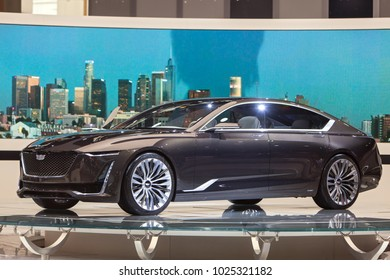 CHICAGO - February 9: The Cadillac Escala concept vehicle on display at the Chicago Auto Show media preview February 9, 2018 in Chicago, Illinois.