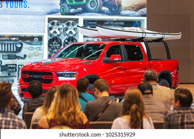 CHICAGO - February 9: The debut of the Mopar Dodge Ram 1500 at the Chicago Auto Show media preview February 9, 2018 in Chicago, Illinois.