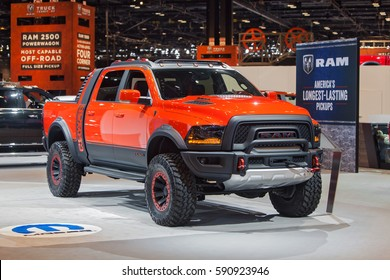 CHICAGO - February 9: The Dodge Ram Power Canyon pickup truck at the Chicago Auto Show media preview February 9, 2017 in Chicago, Illinois.