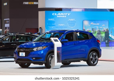 CHICAGO - February 9: The Honda HR-V Crossover on display at the Chicago Auto Show media preview February 9, 2018 in Chicago, Illinois.