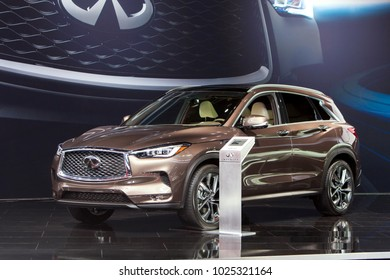 CHICAGO - February 9: The Infiniti QX50 on display at the Chicago Auto Show media preview February 9, 2018 in Chicago, Illinois.