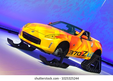 CHICAGO - February 9: The Nissan 370Zki concept on display at the Chicago Auto Show media preview February 9, 2018 in Chicago, Illinois.