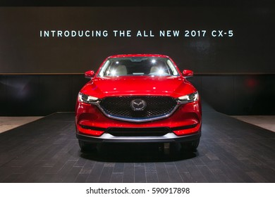 CHICAGO - February 9: The2017 Mazda CX-5 on display at the Chicago Auto Show media preview February 9, 2017 in Chicago, Illinois.