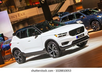 CHICAGO - February 9: The Volvo XC40 SUV on display at the Chicago Auto Show media preview February 9, 2018 in Chicago, Illinois.