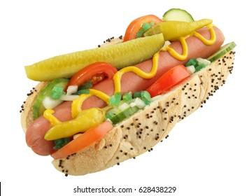 CHICAGO HOT DOG ISOLATED