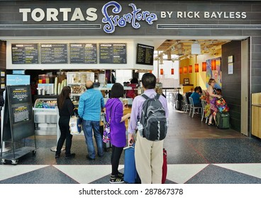 CHICAGO, IL -16 MAY 2015- Award-winning chef Rick Bayless has three Tortas Frontera restaurant locations at the Chicago OHare International Airport (ORD).
