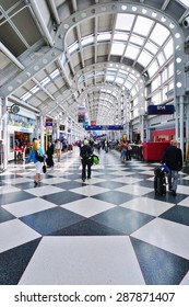 CHICAGO, IL -16 MAY 2015- Terminal 1 at the Chicago OHare International Airport (ORD), with its 50 gates on two concourses, is used by United Airlines (UA).