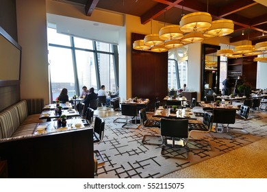 CHICAGO, IL -6 JAN 2016- The Park Hyatt Chicago is a luxury hotel located across from the Water Tower on Michigan Avenue. It is the flagship property of the Hyatt chain, which is based in Chicago.