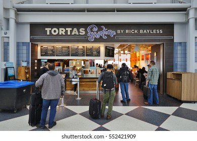 CHICAGO, IL -8 JAN 2017- Award-winning chef Rick Bayless has three Tortas Frontera restaurant locations at the Chicago OHare International Airport (ORD).