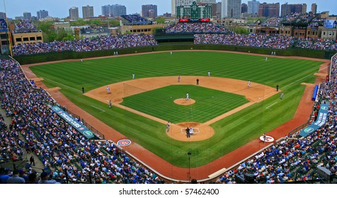 CHICAGO, IL -- APRIL 30, 2010: The Chicago Cubs defeated the Arizona Diamondbacks during a Friday afternoon game at Wrigley Field on April 30, 2010 in Chicago, Illinois