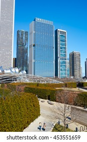 CHICAGO, IL - CIRCA MARCH, 2016: view of Millennium Park in the daytime. Millennium Park is a public park located in the Loop community area of Chicago in Illinois.