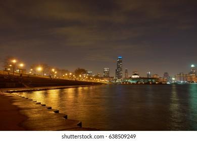 CHICAGO, IL - CIRCA MARCH, 2016: view from Adler Planetarium Skyline Walk