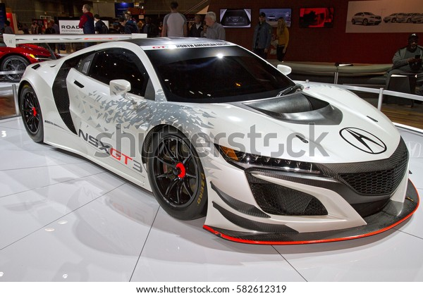 CHICAGO, IL - FEBRUARY 11: Acura NSX GT3 at the annual International auto-show, February 11, 2017 in Chicago, IL