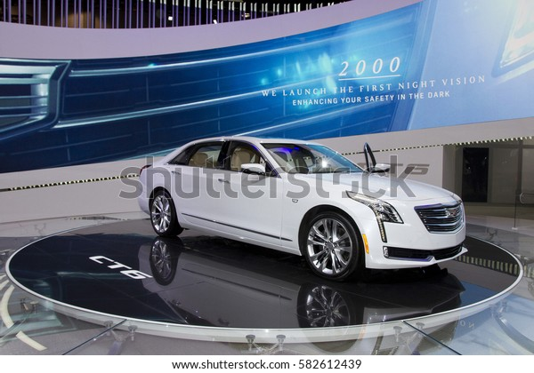 CHICAGO, IL - FEBRUARY 11: Cadillac CT6 at the annual International auto-show, February 11, 2017 in Chicago, IL