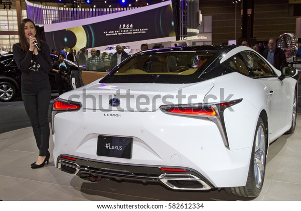 CHICAGO, IL - FEBRUARY 11: Lexus LC500h at the annual International auto-show, February 11, 2017 in Chicago, IL