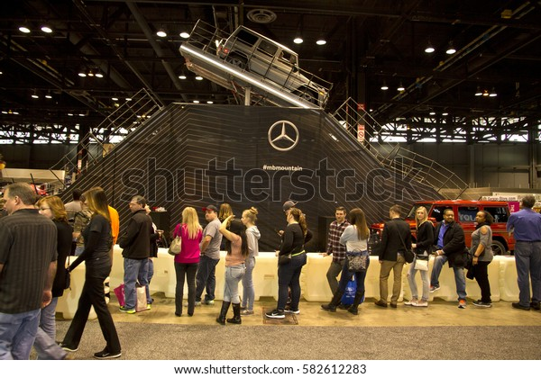 CHICAGO, IL - FEBRUARY 11: Mercedes-Benz test track at the annual International auto-show, February 11, 2017 in Chicago, IL