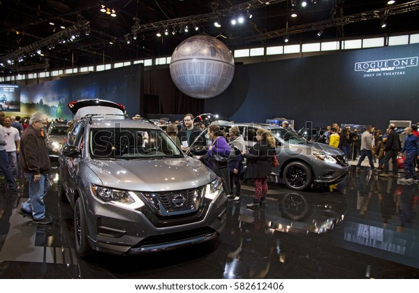 CHICAGO, IL - FEBRUARY 11: Nissan Rogue's Star Wars Edition at the annual International auto-show, February 11, 2017 in Chicago, IL