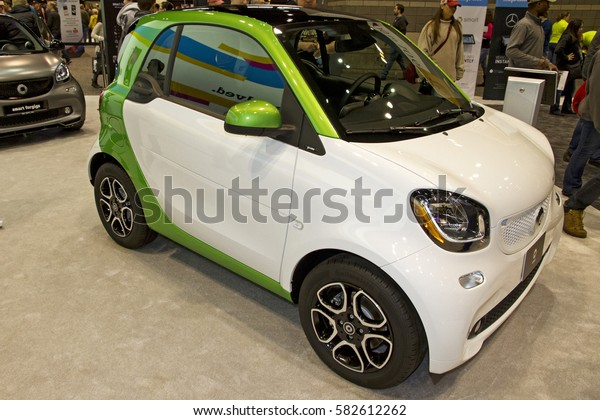 CHICAGO, IL - FEBRUARY 11: Smart by Daimler at the annual International auto-show, February 11, 2017 in Chicago, IL
