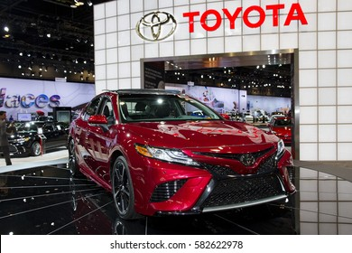 CHICAGO, IL - FEBRUARY 11: Toyota Camry at the annual International auto-show, February 11, 2017 in Chicago, IL