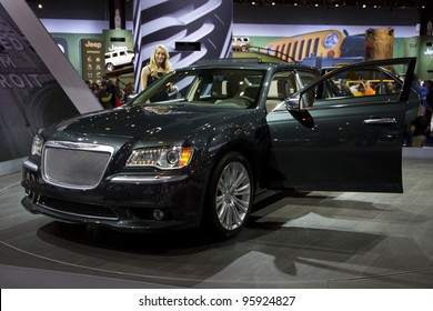 CHICAGO, IL - FEBRUARY 19: Chrysler 300 at the annual International auto-show, February 19, 2012 in Chicago, IL