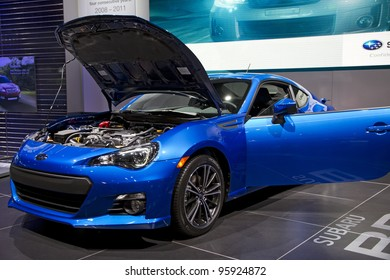 CHICAGO, IL - FEBRUARY 19: Subaru BRZ at the annual International auto-show, February 19, 2012 in Chicago, IL