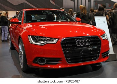 CHICAGO, IL - FEBRUARY 20: Audi A6 model 2011 on display at the International auto-show on February 20, 2011 in Chicago, IL