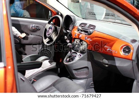 CHICAGO IL FEBRUARY 20 Interior FIAT Stock Photo (Edit Now) 71679427 ...