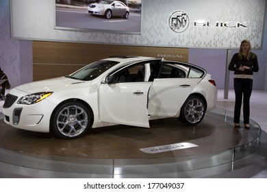 CHICAGO, IL - FEBRUARY 8: Buick Regal at the annual International auto-show, February 8, 2014 in Chicago, IL