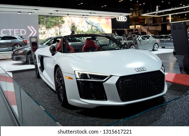 CHICAGO, IL - FEBRUARY 9: Audi Sport at the annual International auto-show, February 9, 2019 in Chicago, IL