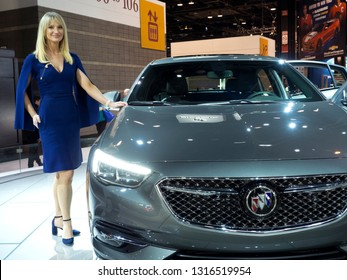 CHICAGO, IL - FEBRUARY 9: Buick Regal 2019 at the annual International auto-show, February 9, 2019 in Chicago, IL