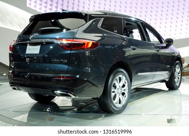 CHICAGO, IL - FEBRUARY 9: Buick Enclave 2019 at the annual International auto-show, February 9, 2019 in Chicago, IL