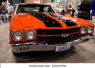 CHICAGO, IL - FEBRUARY 9: Chevrolet Chevelle classic at the annual International auto-show, February 9, 2019 in Chicago, IL
