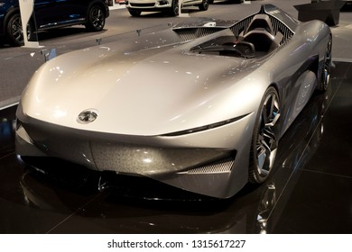 CHICAGO, IL - FEBRUARY 9: Infinity Corral concept car at the annual International auto-show, February 9, 2019 in Chicago, IL