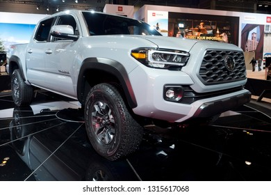 CHICAGO, IL - FEBRUARY 9: Toyota Tacoma 2019 at the annual International auto-show, February 9, 2019 in Chicago, IL
