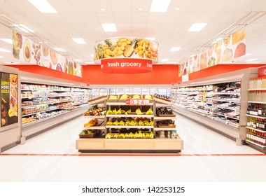 CHICAGO, IL JUNE 4: A newly design supermarket selling fresh grocery and frozen items on June 4th 2013 . Consumption of fresh produce is on the rise due to growing health awareness.